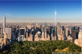 纽约新地标 中央公园塔 全球最高住宅楼 690万美金起跳