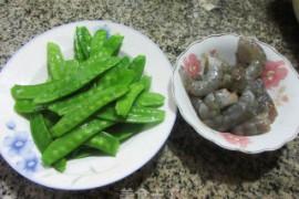 虾仁炒荷兰豆的做法步骤