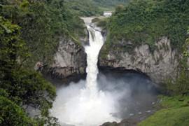 厄瓜多尔最高瀑布神秘消失 背后原因待查