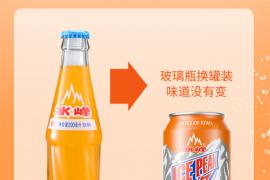 冰峰(ICE PEAK)汽水饮料陕西特产330ml*24罐装橙味汽水碳酸饮料老汽水