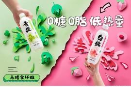 秋林QiuLin 苏打水 青提味苏打气泡水 0糖汽水饮料450ml*12瓶/箱
