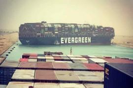 """台湾巨型货轮""""截断""""苏伊士运河 恐引发全球市场连锁反应"""