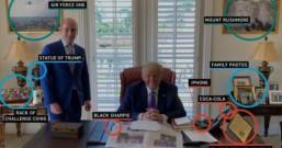 """特朗普新办公室一张照片,让媒体圈出15颗""""彩蛋"""""""