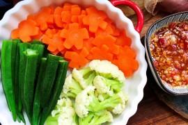 蘸汁三色蔬菜的做法步骤