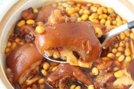 香辣黄豆炖猪蹄的做法步骤