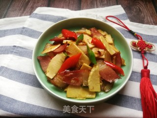 冬笋炒腊肉的做法步骤 家常菜谱 第14张