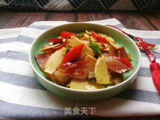 冬笋炒腊肉的做法步骤 家常菜谱 第15张