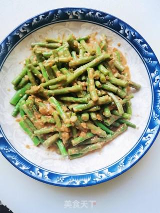 芝麻酱蒜泥拌豆角的做法步骤 家常菜谱 第9张