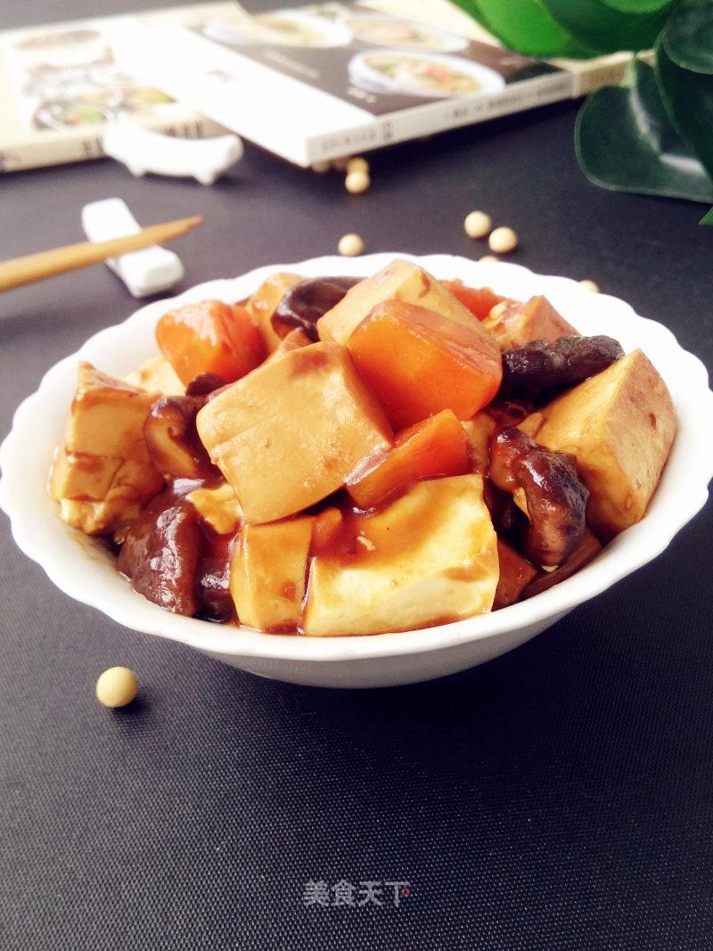 豆腐烧香菇的做法步骤 家常菜谱 第1张