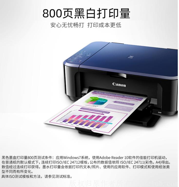 佳能(Canon) E568 彩色喷墨一体机 学生打印 作业打印(打印 复印 扫描 无线连接 自动双面) 京东特惠 第1张
