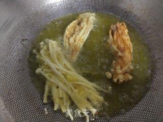 炸金针菇的做法步骤 家常菜谱 第5张