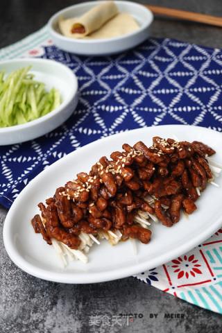 京酱肉丝的做法步骤 家常菜谱 第10张