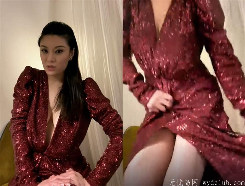 华裔小姐红毯战服裡面没穿 乔姿势意外上下失守 娱乐界 第2张