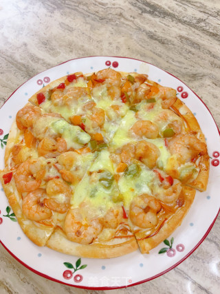 虾仁披萨的做法步骤 家常菜谱 第8张