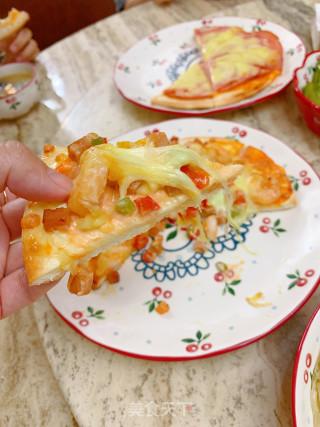 虾仁披萨的做法步骤 家常菜谱 第9张