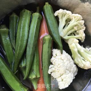 蘸汁三色蔬菜的做法步骤 家常菜谱 第2张