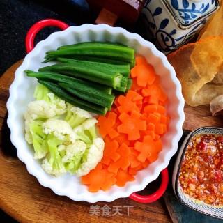 蘸汁三色蔬菜的做法步骤 家常菜谱 第12张